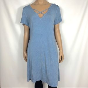 Umgee Strappy Tee Shirt Dress
